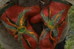 Rękawiczki z kwiatami