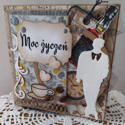 Kartka urodzinowa męska pachnąca kawą
