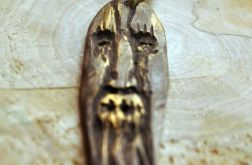 Wood face naszyjnik