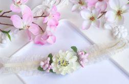 Nomma Opaska niemowlęca CHRZEST kwiatki 003