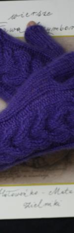 Mitenki z kłoskiem fioletowe