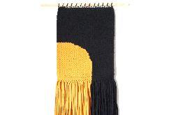 czarno-żółta makatka