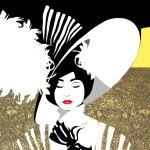 Dama w kapeluszu, autorski plakat, sygnowany - Praca sygnowana