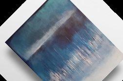 Niebieska abstrakcja-obraz akrylowy