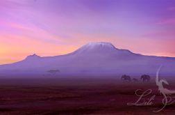Obraz - Afryka 3 - płótno - natura, pejzaż, słonie