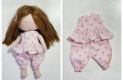 Piżamka dla lalki różowa w gwizaski