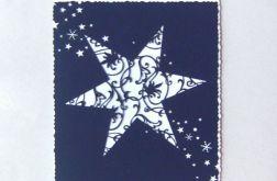 Kartka z gwiazdą ażurową