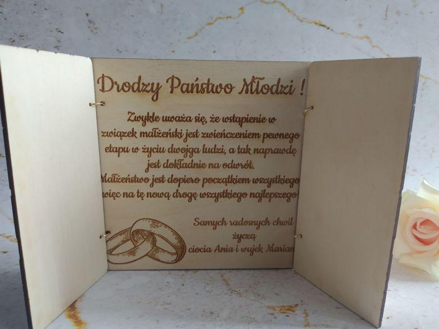 Pamiątka ślubu - kartka personalizowana  - kartka ślubna - środek
