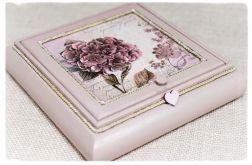 Toaletka na biżuterię z lusterkiem~Hortensja~