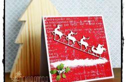 Kartka z Mikołajowym zaprzęgiem