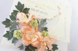 """""""Kobierzec weselny"""" - karteczka w pudełku"""