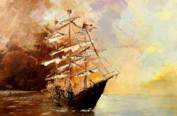 Statek - Obraz olejny 40x60cm