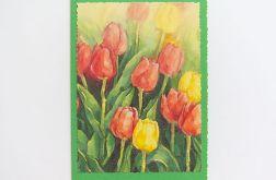 Uniwersalna kartka tulipany