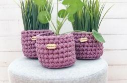 Koszyki dekoracyjne,osłonka donicy,3szt,