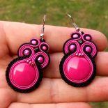 Kolczyki Różowo-czarne