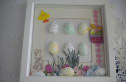 Wielkanoc z pisankami - obrazek 3d