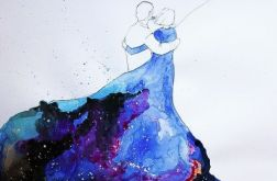 """Akwarela """"Niebieska sukienka 2"""""""