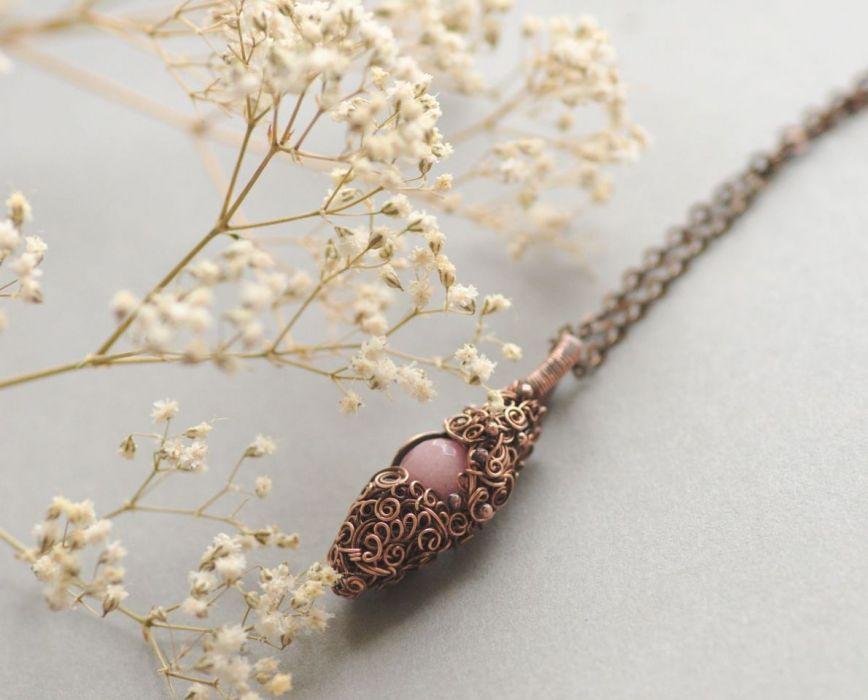 Mercia - różowy naszyjnik