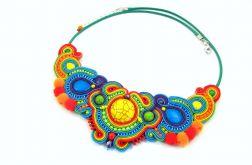 Naszyjnik tęcza kolorowy etno boho sutasz
