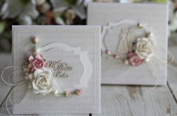 Romantyczna kartka ślubna z pudełkiem 2