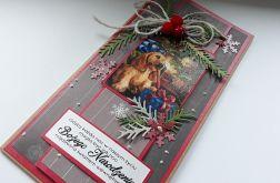 Boże Narodzenie, kartka z pieskiem