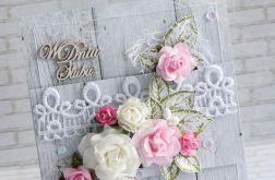 Ślubne róże, koronka