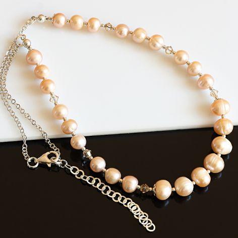 Złociste perły - naszyjnik