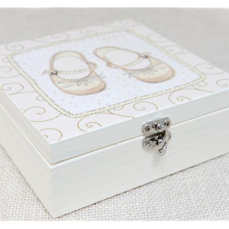 Pudełko ~Buciki~ Pamiątka Chrztu Św, Chrzciny