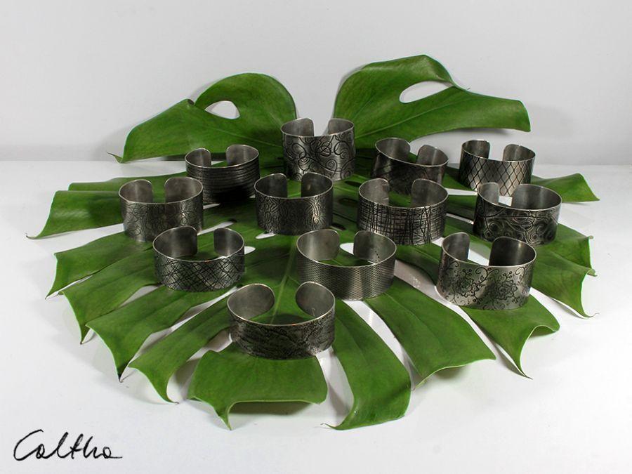Metalowa bransoleta - kratka drobna 171202-01