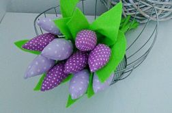 Tulipan 100% bawełna 10szt krop fiolet