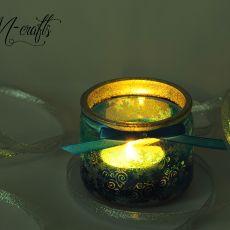 Świąteczny lampion szklany -1-