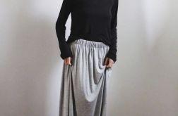 Spódnica długa lejąca sie szary melanż