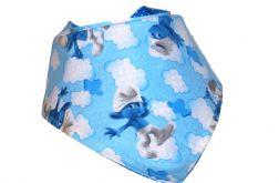 Apaszka, bandama, chustka Niebieskie Smerfy + Niebieska Bawełna w Kropki