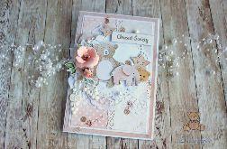 Kartka na chrzest Miracle Pink GOTOWA