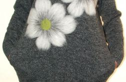 Sukienka filcowana kwiaty 01