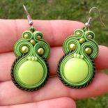 Kolczyki Limonkowo-oliwkowe