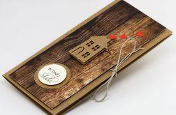 Ślubna kartka z domkiem w pudełku
