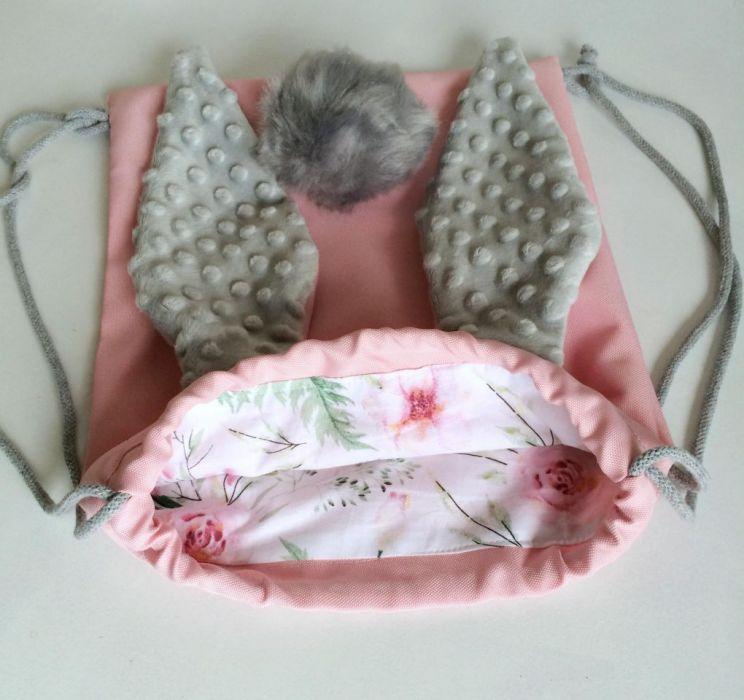 worko/plecak KRÓLIK różowy