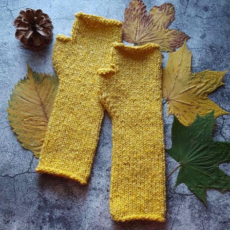Mitenki Tweed żółte