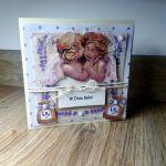 Dzień Babci #5 kartka lawenda aniołki  - 3