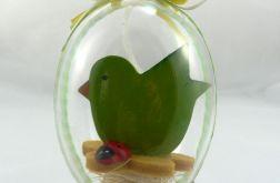 Jajko 3D. Zielony ptaszek.