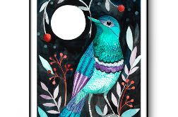 Moon bird wydruk ilustracji