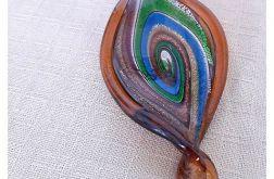 4194 naszyjnik makrama szkło weneckie