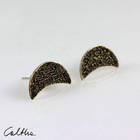 Księżyce - kolczyki sztyfty 201204-10