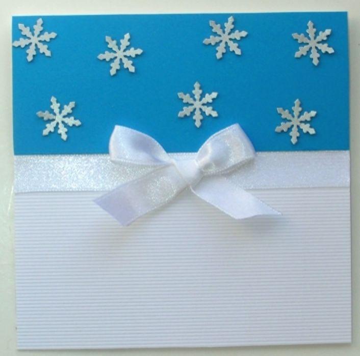 **Śnieżynki ** Zimowa Kartka na Boże Narodzenie