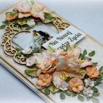 Kartka ślubna w pudełku - na zamówienie - Kartka ślubna- format DL