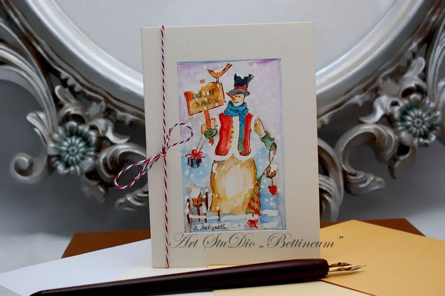 Karnet malowany ręcznie -Akwarela Nr 14- -
