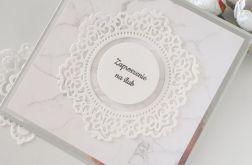 Zaproszenia ślubne- marmurek