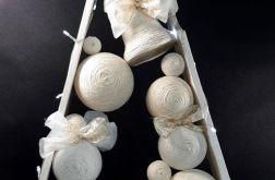 Drewniana choinka w Bieli LED