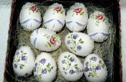 Jajka w tkaninie w kwiaty 10 szt.
